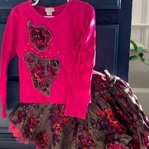 Girl's ELIANA ET LENA outfit skirt shirt set